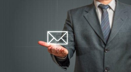 Business man Presenting Email Icon
