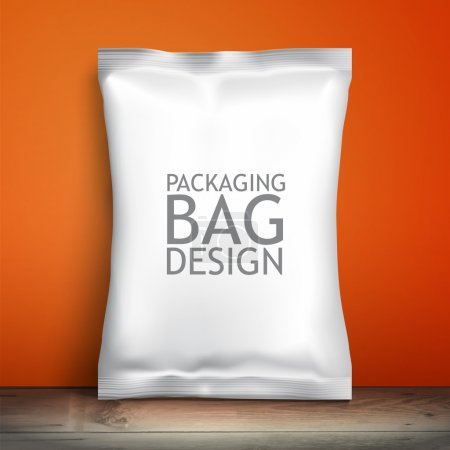 Empty packaging design chips, candy, cookies, cereals and other products
