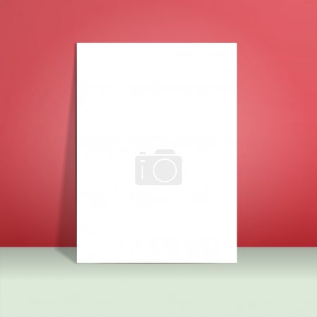paper mockup hanging