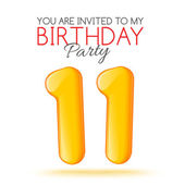 Invitation card for the celebration of 11 years