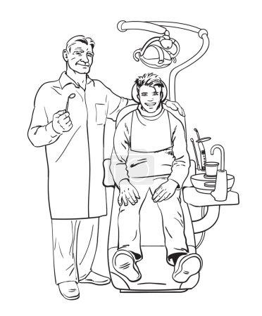 dentist and patient. Healthy patient