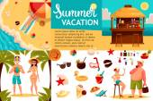 Travel icons Infographic with elements of holidays