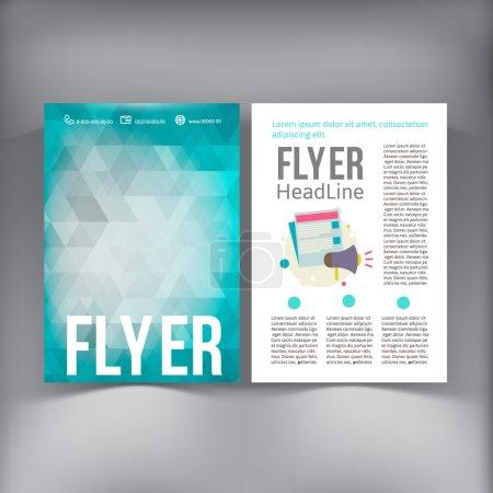 Abstract  Brochure Flyer design vector template. v...