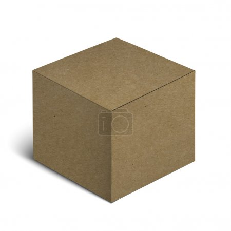 Realistic Cardboard Box Isolated On White Background