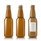 Templates realistic transparent bottles