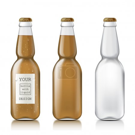 Sample of empty beer bottles