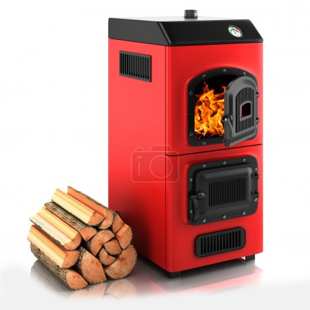 Solid fuel boiler.
