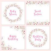 Set of four cute confetti frames