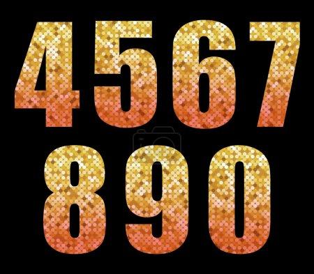 trendy glitter numbers