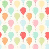 Seamless primitive retro background with party balloons of different colors ideal for baby shower