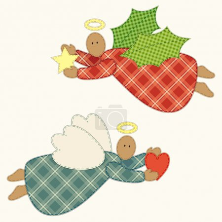 Patchwork Christmas angels