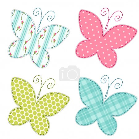 Cute primitive butterflies