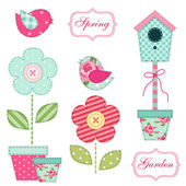 Spring and garden elements