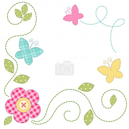 Cute retro spring card