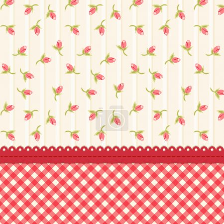 Shabby chic background with tulips