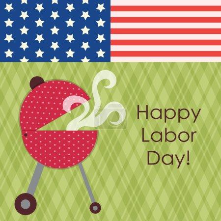 American Labor Day card