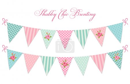 Baby shower bunting flags
