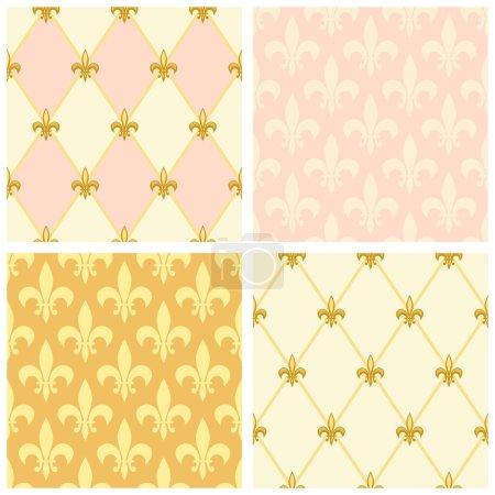 Set of luxury seamless patterns