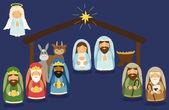Cute hand drawn characters of Nativity scene can b