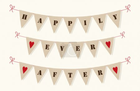 Happily Ever After bunting flags