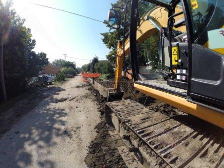 Excavator Digging Deep