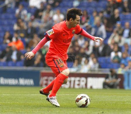 Leo Messi of FC Barcelona