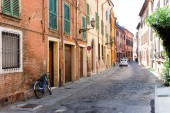 Picturesque street in an old Italian town
