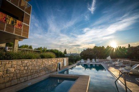 Hotel pool at Mediterranean coast