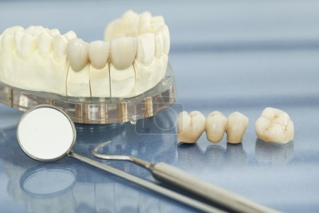 Dental health care close up view