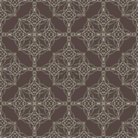 Illustration pour Modèle géométrique abstrait sans couture. Illustration vectorielle - image libre de droit