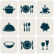 Cooking and kitchen restaurant menu retro icons co...