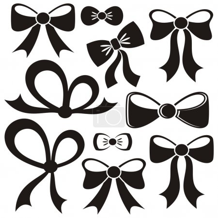 Black vector bows