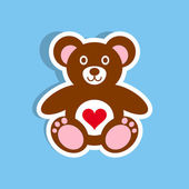 Teddy bear icon with heart