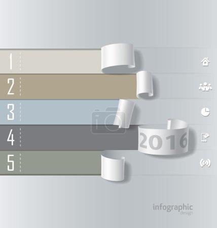 Infographics paper roll design vector...