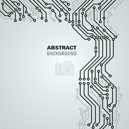 Abstract background with printed circuit board