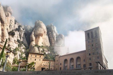Montserrat monastery against mountains