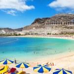 Playa de Amadores beach near Puerto Rico town. Gra...