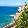 View of coastline from Puerto Rico to Amadores bea...