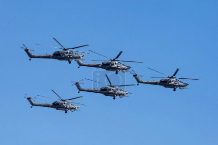 Mi-28N (Havoc) attack helicopters