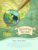 magnifier showing beautiful nature on the map vector illustration eps10