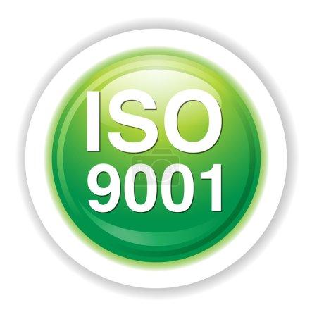 Iso 9001 web icon illustration...