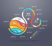 Business template with infographic elements