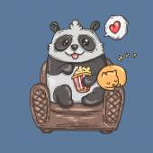 Panda on chair