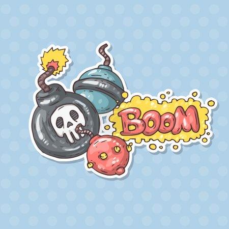 Cartoon bombs illustration
