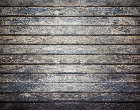 Photo for Old dark wooden board background, plank with texture, empty copy space - Royalty Free Image