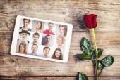 Valentýna složení s růží