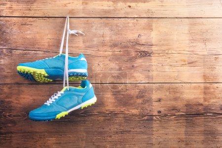 sport blau hintergrund anzeigen kleidung gesund