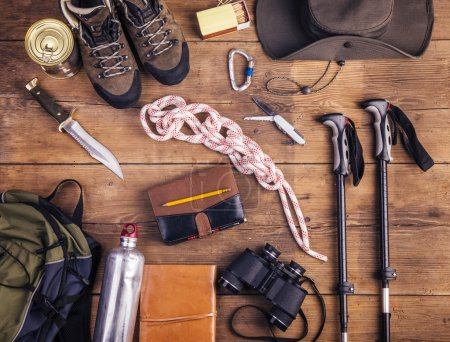 Equipment for hiking on a floor