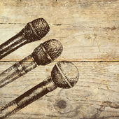 Conference template with microphones