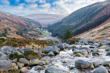 Beautiful irish landscape in Wicklow mountains